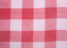 Red checkered tablecloth Royalty Free Stock Images