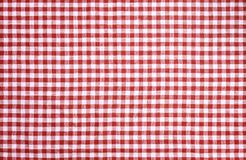 Red checkered tablecloth texture. Red checkered tablecloth vor texture or background Royalty Free Stock Photo