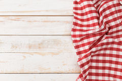Red checkered tablecloth Royalty Free Stock Photos