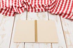 Red checkered tablecloth Stock Photos