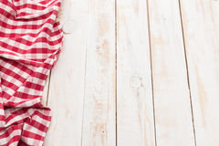 Red checkered tablecloth Royalty Free Stock Image