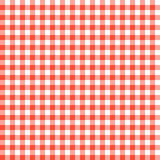 Red checkered tablecloths patterns. Seamless Checkered seamless Pattern. Red and white tablecloth background. Picnic gingham cloth template. Retro craft art Stock Images