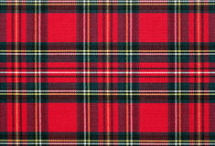 Red, checkered textile background Royalty Free Stock Photo