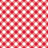 Texture Gingham seamless pattern. Red Checkered Textile products. Vector illustration squares or rhombus for fabric napkin plaid. Red Checkered Textile products Royalty Free Stock Photo