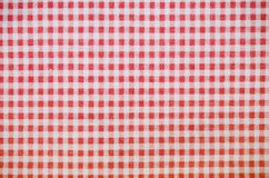 Red checkered towel texture. background, kitchen. royalty free stock photography