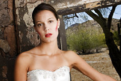 Red Cheek Bride Stock Photos