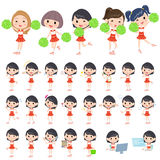 Red Cheerleader Royalty Free Stock Images