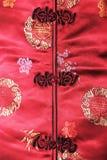 Red cheongsam Stock Images
