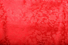 Red cheongsam. A red cheongsam isolated in white background Stock Photos