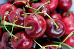 Red cherries. Ripe red cherries - great background image Stock Photography