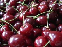 Red cherries. Deep red cherries Stock Photos