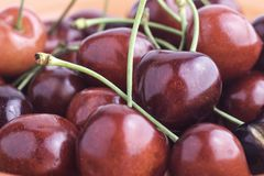 Red cherries Royalty Free Stock Photography