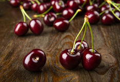 Red cherries close-up Royalty Free Stock Image