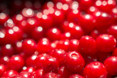Red Cherries Close Up In Fruit Market Stock Photos