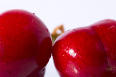 Red Cherries Close-Up Stock Image