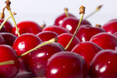 Red Cherries Close-Up Royalty Free Stock Photography