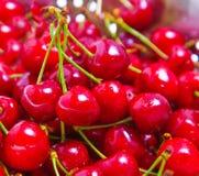 Red cherries closeup Stock Photo