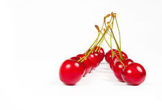 The red cherries Stock Image