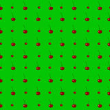 Red cherries seamless pattern. vector illustration
