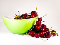 Red cherries. Sweety cherries in a cup Stock Photo