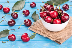 Red cherries Stock Images