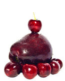 Red Cherry and Apple Stock Photos