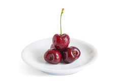 Red cherry with clipping path. Stock Images