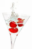 Red Cherry cocktail splash Royalty Free Stock Image