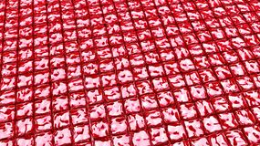 Red cherry cubes jellies Royalty Free Stock Photo