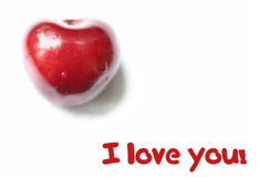 Red cherry heart Royalty Free Stock Photos