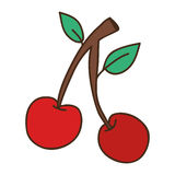 Red cherry icon Royalty Free Stock Photography