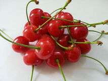 Red cherry isolated in white Royalty Free Stock Photos