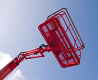 Red cherry picker machine Royalty Free Stock Images