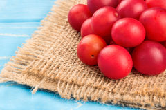 Red cherry plum Royalty Free Stock Photo