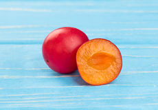 Red cherry plum Stock Photography