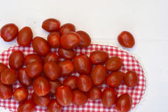 Red Cherry plum snack tomatoes Royalty Free Stock Photos