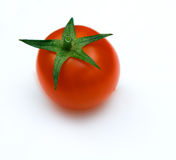 Red cherry tomate. The red cherry tomate on white Stock Image