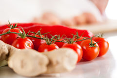 Red Cherry tomato Royalty Free Stock Images
