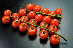 Red cherry tomato rods Royalty Free Stock Photo