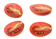 Red cherry tomato slice collection Stock Image