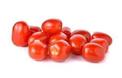 Red cherry tomato on white background Royalty Free Stock Images