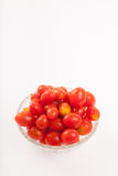 Red cherry tomatoes in a bowl Royalty Free Stock Photography