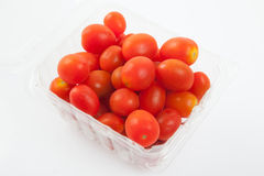 Red cherry tomatoes in a box Royalty Free Stock Photo