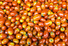 Red cherry tomatoes. Group of fresh red cherry tomatoes background Royalty Free Stock Image