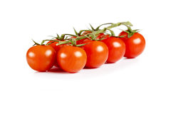 Red cherry tomatoes isolated on white background Stock Photos
