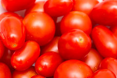 Red Cherry Tomatoes In Vegetable Market Stock Photos