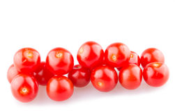 Red cherry tomatoes. On white background. can be used for shop window Royalty Free Stock Image