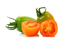 Red cherry tomatoes  on white background Stock Photography