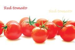 Red cherry tomatos. On white Royalty Free Stock Image