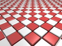 Red chess patterned surface Stock Photos